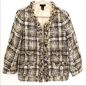 {J.CREW} Collection Tweed Frayed Blazer/Jacket